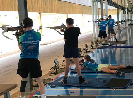 Biathlon training with Olympian