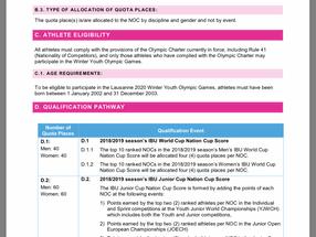 Youth Olympics 2020 Q's