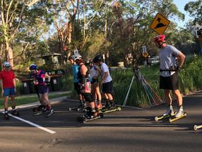 Roller ski training - Sydney - 18 March 2018
