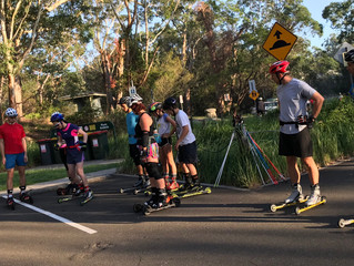 Roller ski training - Sydney - 18 March 2018