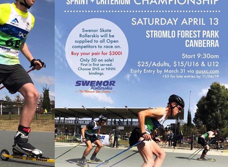 Saturday 13 April AUS Roller Ski Champs