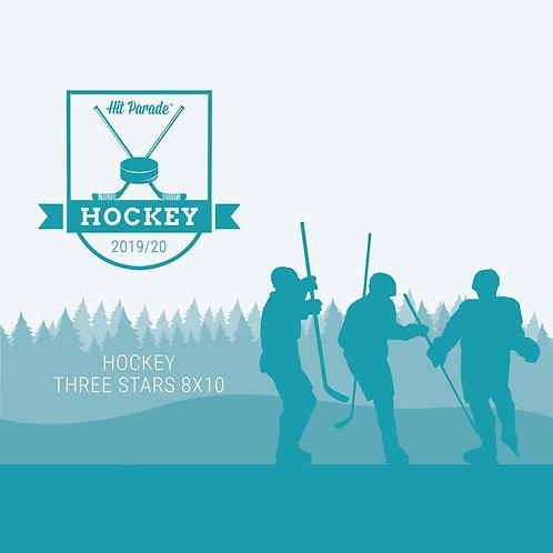Autographed Hockey THREE STARS 8x10 Photo Hobby Box