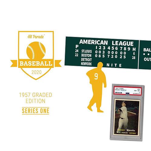 2020 Hit Parade 1957 Topps Baseball Graded Edition - Series 1 - Hobby Box
