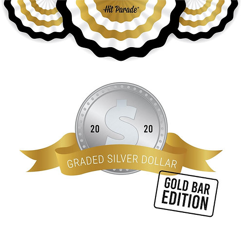 Graded Silver Dollar GOLD Bar Edition
