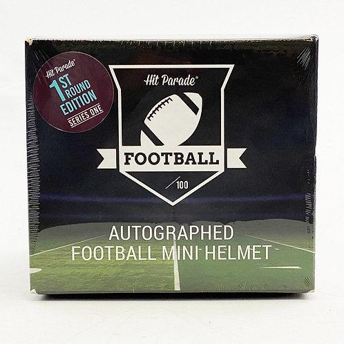 Autographed Football Mini Helmet 1ST ROUND EDITION