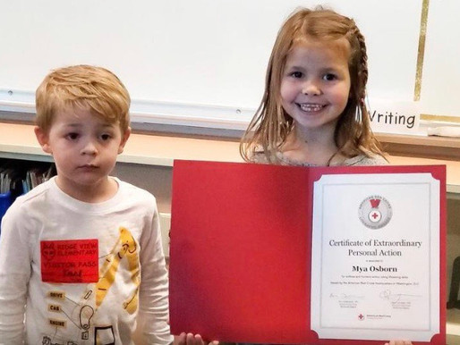 Sunday Survival Story!  Local first-grader rewarded for saving drowning cousin