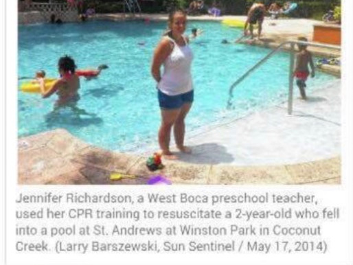 Sunday Survival Story! Preschool teacher uses CPR training to save 2 year old