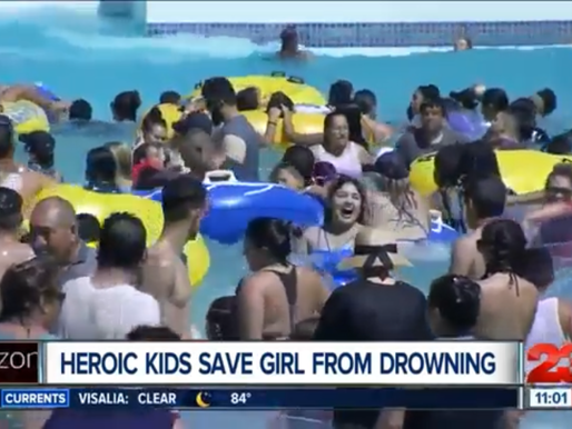 Sunday Survival Story! Teens Save Girl Drowning at Water Park!