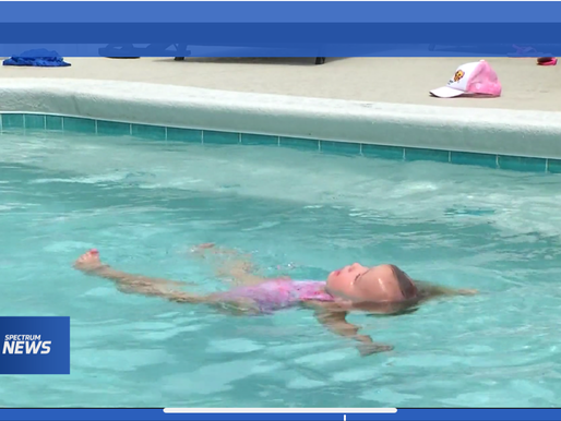 Sunday Survival Story! 20 month old saves herself! Parents credit survival swim lessons