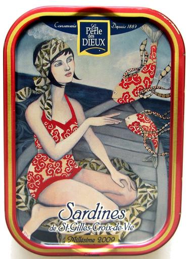 Conserven blikje sardines