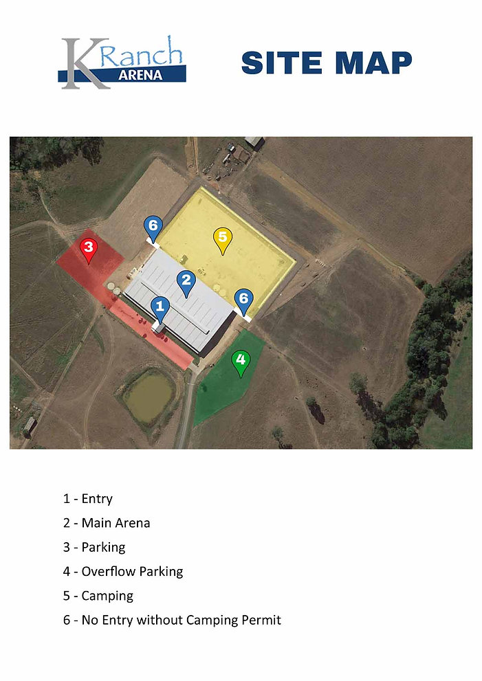 K Ranch Arena Site Map | Mount Hunter Contry Music Stampede