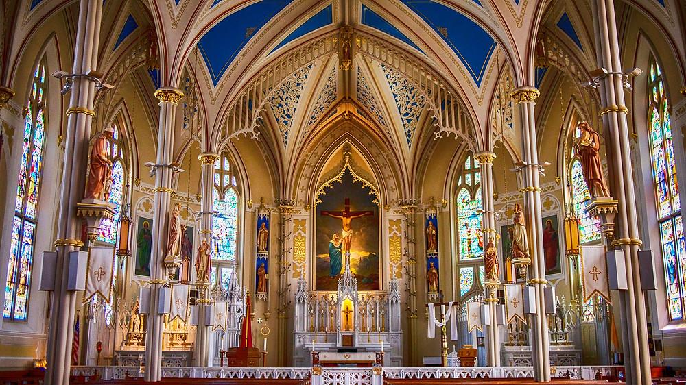 Ornate Catholic church