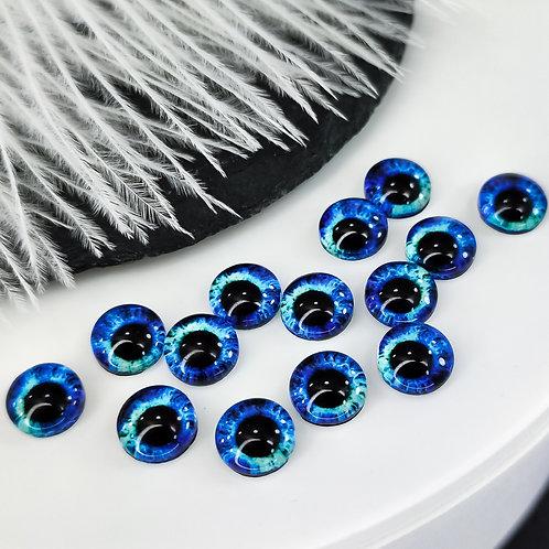 Глазки стеклянные градиент 8мм (пара)