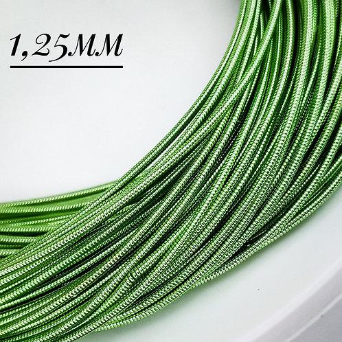 Канитель жёсткая  бледно зеленая 1.25мм (5гр)