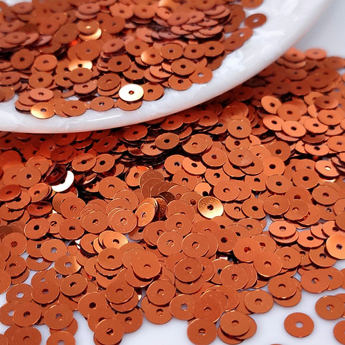 Пайетки круглые Metallizzati ~медно-рыжий~ 4мм Италия (1гр ≈300шт