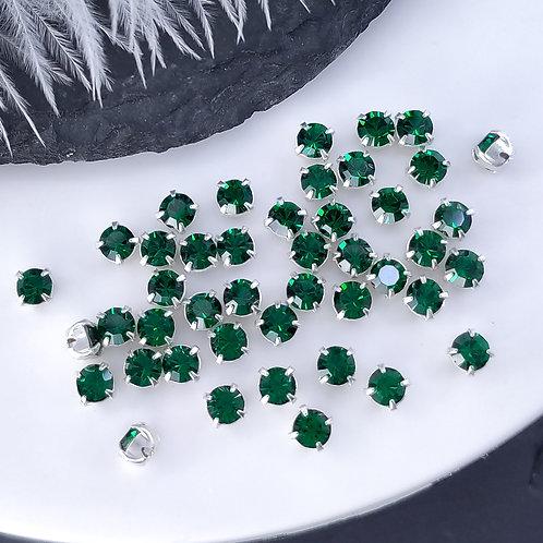 Шатоны SS16 (4мм) ~Emerald~ Preciosa Maxima  (5шт)