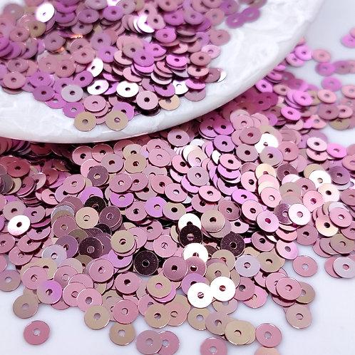 Пайетки круглые Metal ~пепельный розовый перелив~ 4мм Италия (1гр ≈300шт