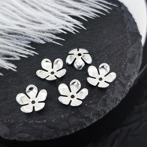 Металлические цветы, цвет серебро 10мм