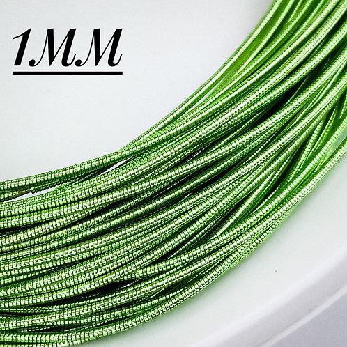 Канитель жёсткая бледно зеленая 1мм (5гр)