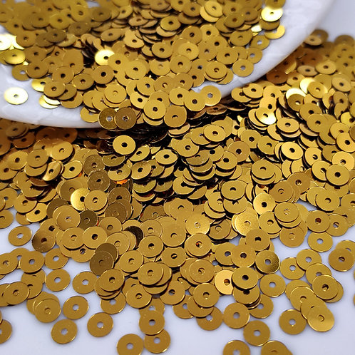 Пайетки круглые Metallizzati ~бронза~ 4мм Италия (1гр ≈300шт)