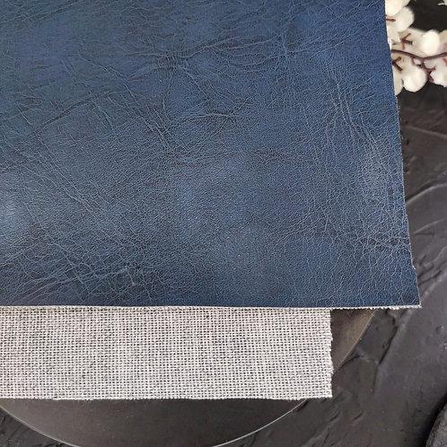Экокожа серо-синяя (23*11см)