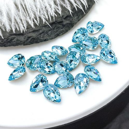 Капли LUX ~aquamarine~ 6*8мм, 7*10мм