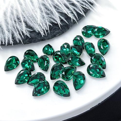 Капли LUX ~emerald~ 6*8мм, 7*10мм