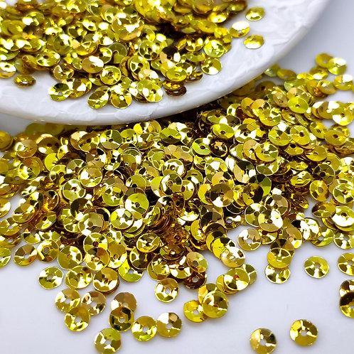 Пайетки чаши Metallizzati ~золото~ 4мм Италия (1гр ≈300шт)