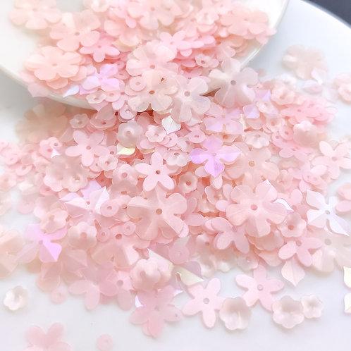 Микс пайеток розово-персиковый 3-15мм 2гр. (Индия)