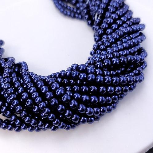 Жемчуг стеклянный ночная синь (КНР) 3, 4мм