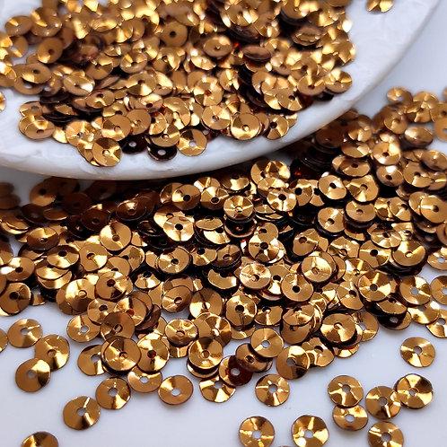 Пайетки чаши Metallizzati ~бронза~ 4мм Италия (1гр ≈300шт)