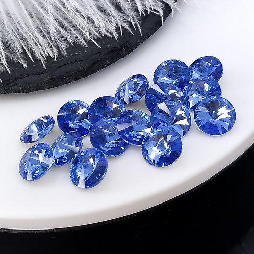 Премиум риволи ~sapphire~ 10мм