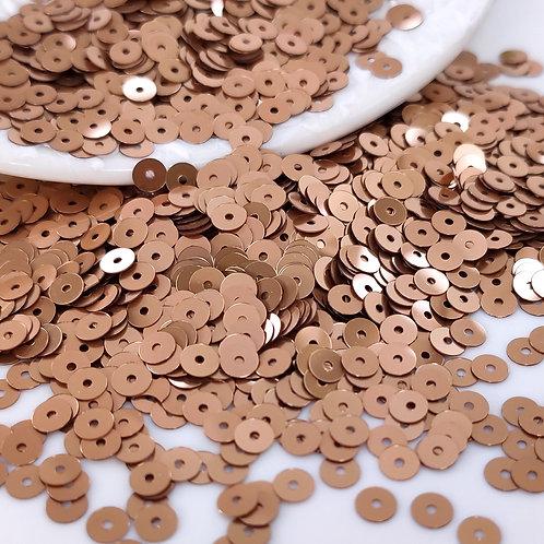 Пайетки круглые Metal ~мокка~ 4мм Италия (1гр ≈300шт