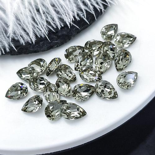 Капли LUX ~dark diamond~ 6*8мм, 7*10мм