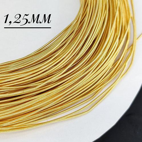 Канитель жесткая золото 1,25мм (1метр)