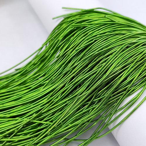 Канитель мягкая гладкая 1мм ~ цвет светло зеленый (5гр)