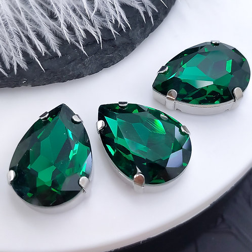 Премиум капля ~emerald~18*25мм в цапах премиум