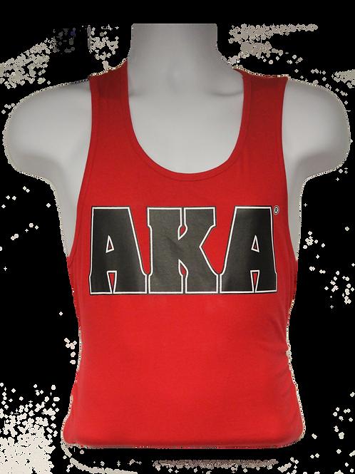 Men's AKA Classic Red Tank Top w Black Logo