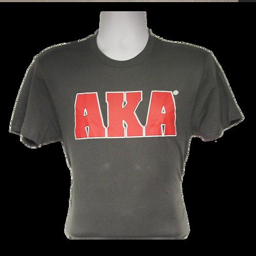 Men's AKA Classic Grey T-shirt w Red Logo