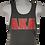 Thumbnail: Men's AKA Classic Black Tank Top w Red Logo