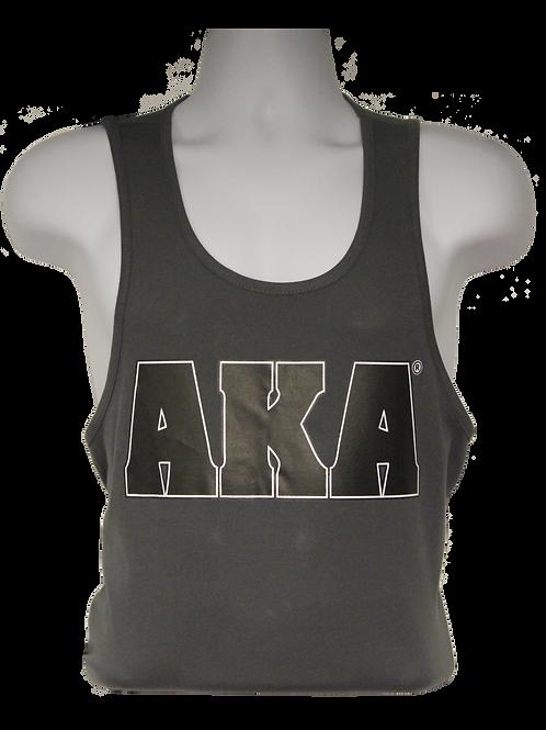 Men's AKA Classic Grey Tank Top w Black Logo