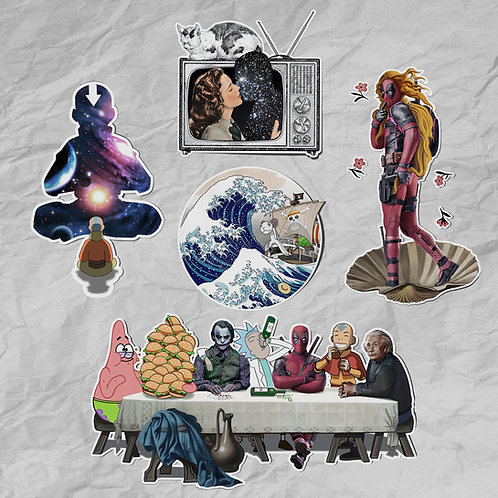 Pop Culture Sticker Set (5 pieces)