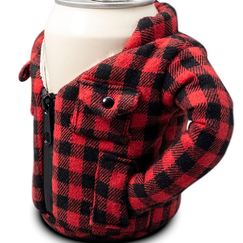 Puffin Coozies Flannel Jacket (Red)