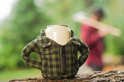 Puffin Coozies Flannel Jacket (Green)