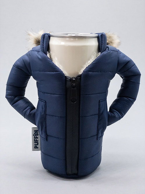 Puffin Coozies Beverage Parka (Blue)