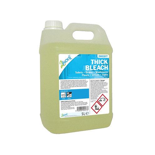 2Work Thick Bleach 5 Litre