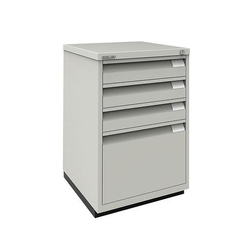 Bisley 3 Plus 1 Filing Cabinet Flush Fronted Goose Grey
