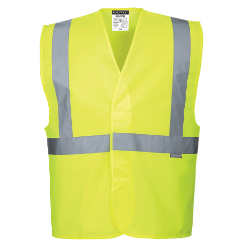 Hi-Vis One Band and Brace Vest Yellow