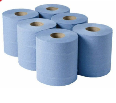 Blue Centrefeed Roll/Hand Towel  - 2 Ply -6 pack
