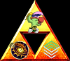 Triangle design of all three logo's